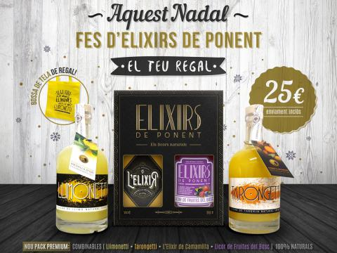 ESTUCHES 2 BOTELLA LICOR NATURAL COMBINABLES